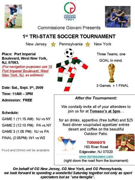 1st Tri State Soccer Tournament | i-ITALY